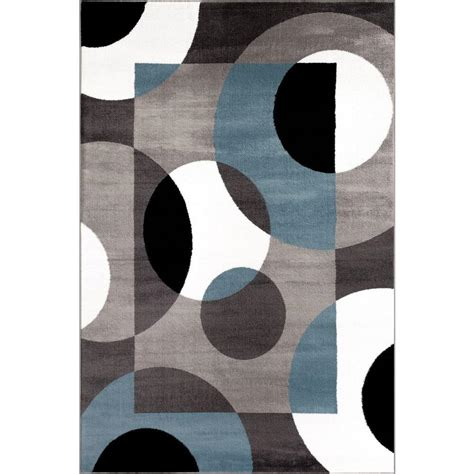 circles rug world rug gallery modern circles blue 2 ft x 3 ft indoor area rug 100 blue 2 x3 the home depot