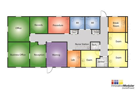 Clinic Floor Plan by Modular Building Solutions For Medical And Healthcare