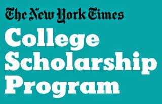 New York Times Mba Internship by New York Times College Scholarship Program