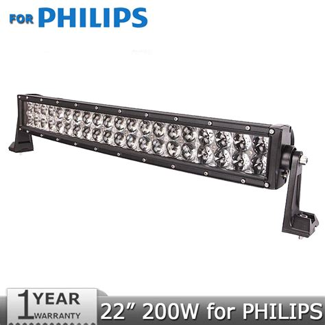 for philips curved led light bar 200w 22 inch offroad led