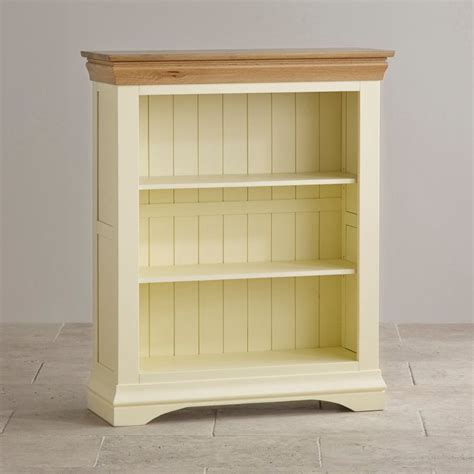country cottage small painted bookcase in solid oak