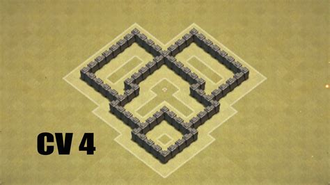 layout coc cv 4 clash of clans cv 4 layout guerra youtube