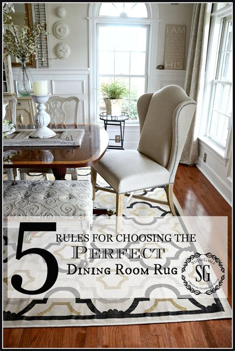 Area Rug For Dining Room Table 5 For Choosing The Dining Room Rug Stonegable
