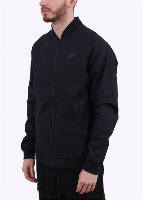 Jaket Zip Farsity Black nike varsity jacket black