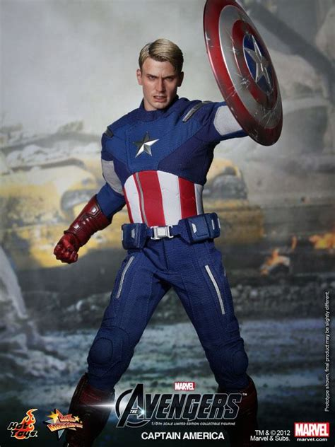 film action amerika the avengers hot toys captain america collectible action