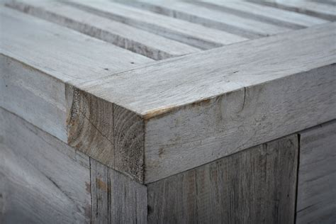 Bench Stores Slatted Reclaimed Aged Teak Outdoor Coffee Table Mecox