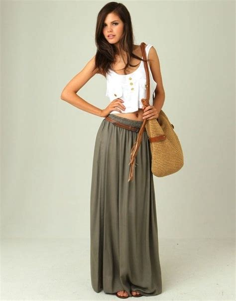 9 Gorgeous Maxi Skirts by Crop Top Maxi Skirt This Wold Be So Beautiful On My