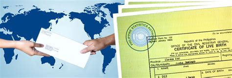 Philippine Birth Records Psa Nso Birth Certificates And More Application Worldwide Delivery