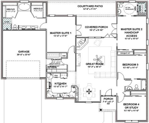 house plans 2 master suites single story pinterest the world s catalog of ideas