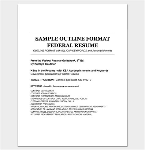 Federal Resume Template Word by Federal Resume Template Word 52 Images Federal