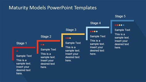 Five Step Maturity Model For Business Powerpoint Template Slidemodel Model Powerpoint Presentation Templates