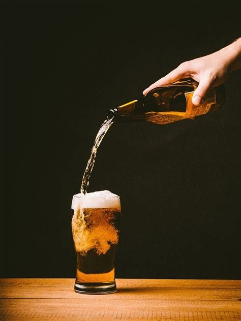 photo beer pouring glass drink  image