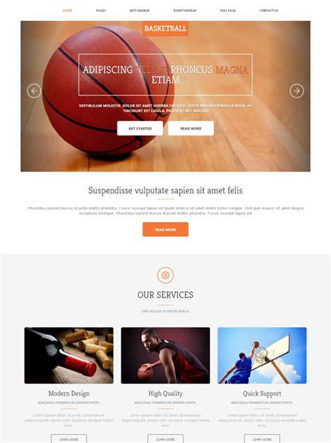 Fantasy Basketball Website Template Basketball Sports Dreamtemplate Basketball Team Website Template