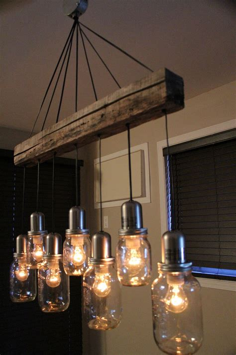 unique dining room chandeliers unique mason jar light chandelier pendant ceiling 7 jars