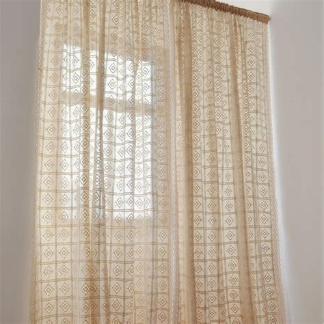 crochet curtains for sale aliexpress com buy rustic vintage style crochet curtain