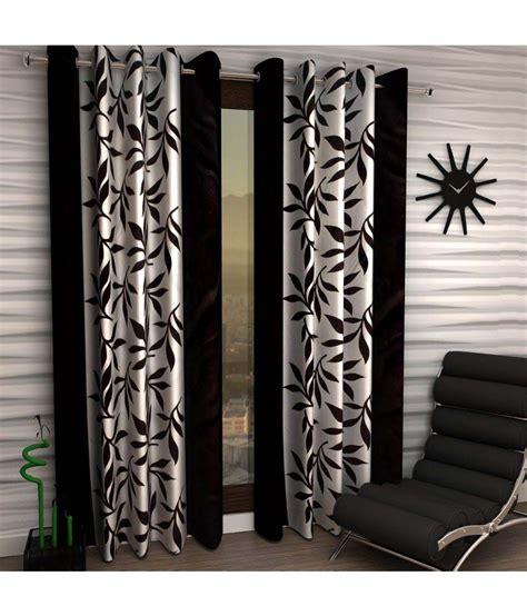 black floral curtains home sizzler set of 2 door eyelet curtains black floral