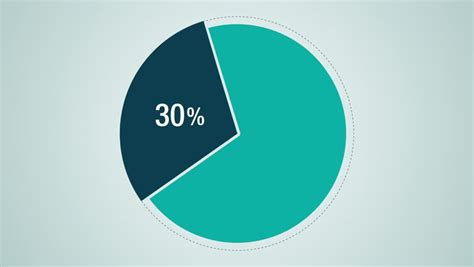 diagram using percent circle diagram for presentation pie chart indicated 50 percent stock footage 9595112