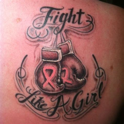 fight like a girl tattoo my new breast cancer fight like a
