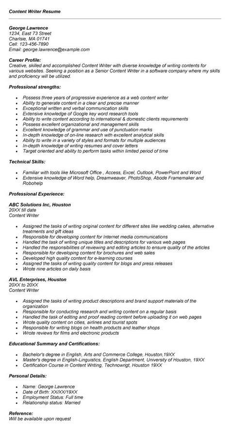 Content Writer Resume by Content Writer Resume 1267 Http Topresume Info 2015