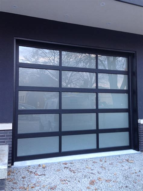 Modern Glass Garage Doors by Oversized Aluminum Frosted Glass Modern Garage Door In