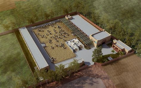 House Plans That Look Like Barns semi controlled cow dairy farm at lahore on behance