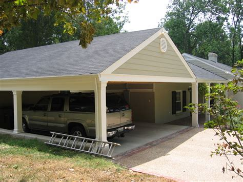 Adding A Carport To A Garage by Bell Meade Carport Addition Craftsman Garage And Shed