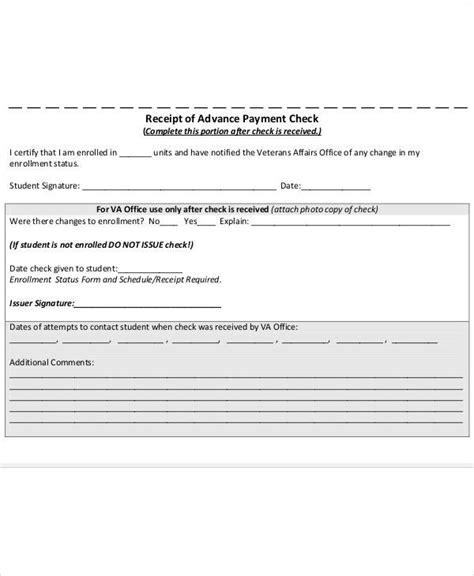 advance payment receipt template 29 sle payment receipt templates sle templates