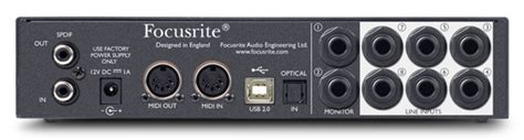 Sound Card Focusrite Saffire 6 Usb sound cards with 16 inputs