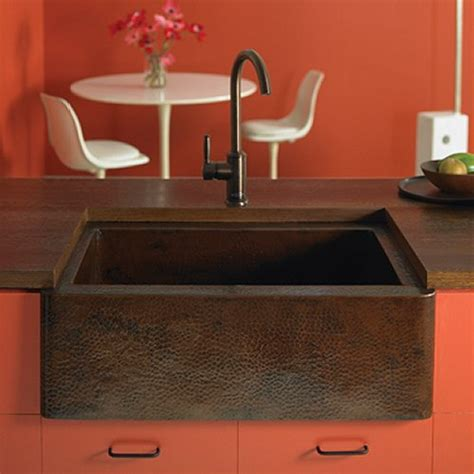 Copper Kitchen Sinks Reviews Kitchen Sink Product Review A Hammered Copper Farmhouse Sink From Trails Ebricks