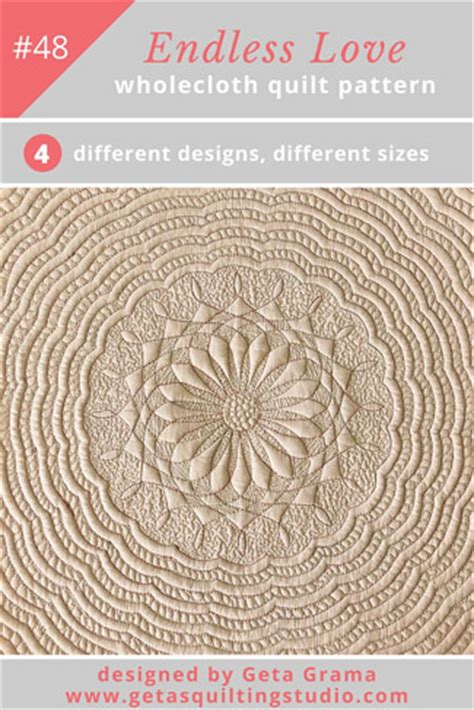 pattern works design studio small wholecloth quilt pattern endless love geta s