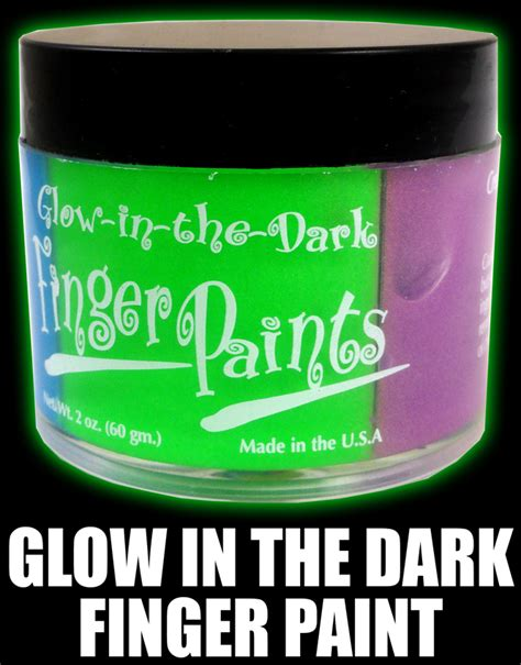 glow in the paint different colors glow in the finger paint jar 4 colors