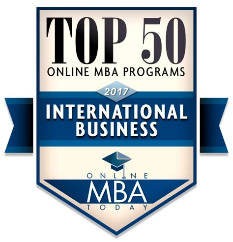 Distance Mba In International Business by Top 50 Mba Programs In International Business 2017