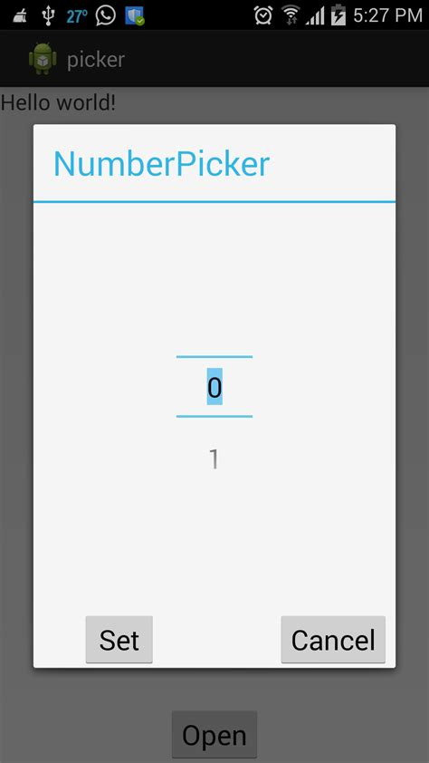 android number picker android number picker with alert dialog like buttons