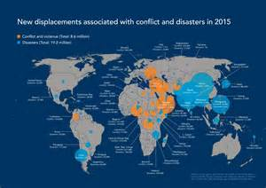 World Conflict Map by Idmc Grid 2016 Global Report On Internal Displacement