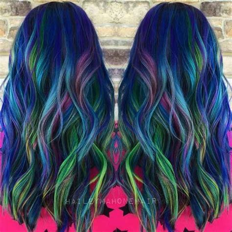 peacock colored hair 21 bold af hair colors to try in 2016 be cool summer