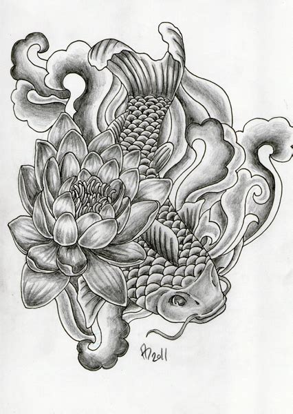 tattoo design koi by mai ja on deviantart