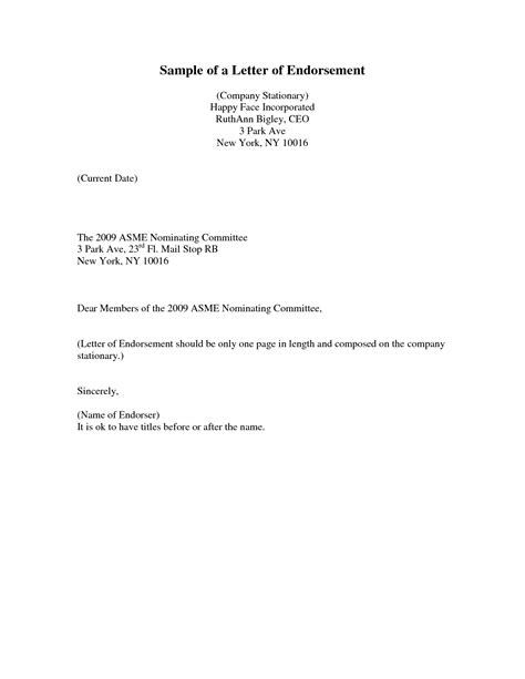 Support Letter Exle For Parole Letter Of Support Format Best Template Collection