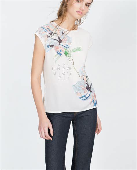 catalogo fiori maglietta fiori zara primavera estate moda con stile