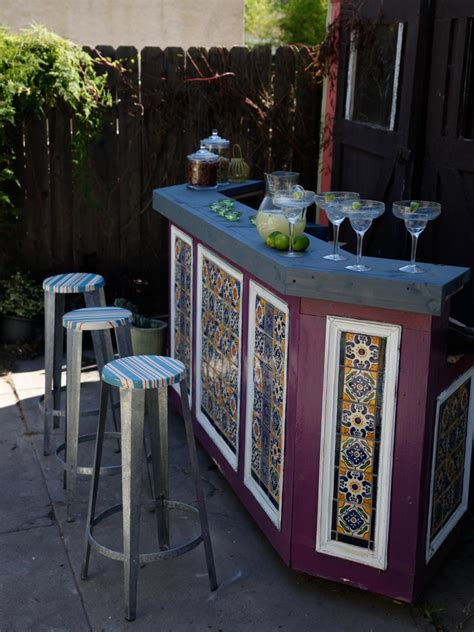 outdoor backyard bar outdoor bar ideas diy or buy an outdoor bar hgtv