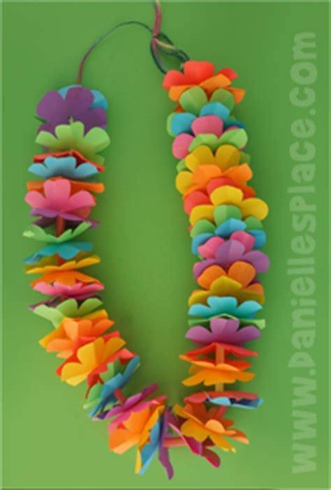 paper flower lei pattern state of hawaii crafts and learning activities for children