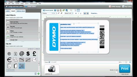 label printer templates how to build your own label template in dymo label