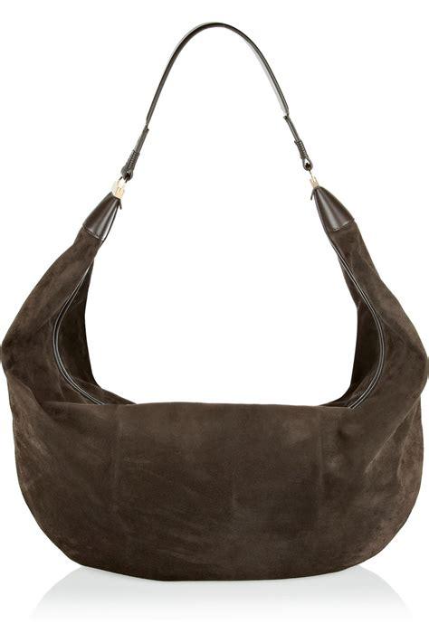 Sling Bag Suede Awir lyst the row sling leathertrimmed suede shoulder bag in brown