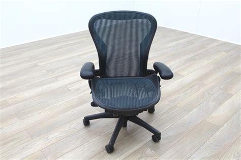 herman miller aeron green mesh size  office task chair ebay