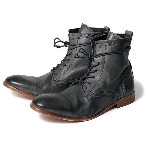 mens gray boots h by hudson boots swathmore grey leather mens boot ebay