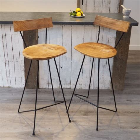 Metal Bar Stool With Backrest by Industrial Wood Bar Stool With Backrest Zaza Homes