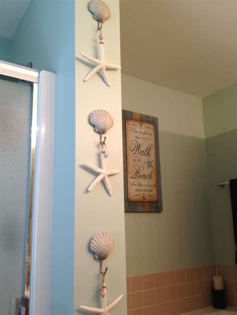 beach decorations for bathroom beach bathroom decor beach shell hooks from kohl s and