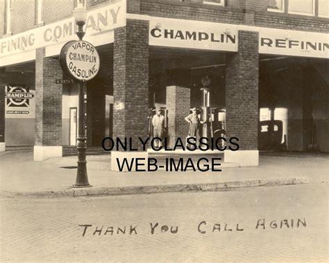 1920 chlin refining gas station photo globe attendants light ebay