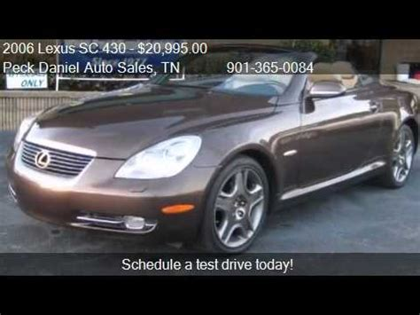 how to learn about cars 2006 lexus sc transmission control 2006 lexus sc 430 convertible for sale in memphis tn 38115 youtube