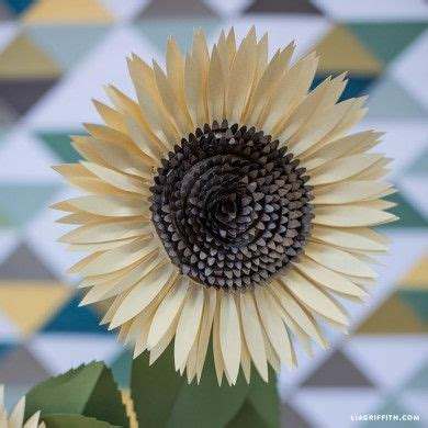 paper sunflower tutorial paper rose bud templates cutting files 11 and flower