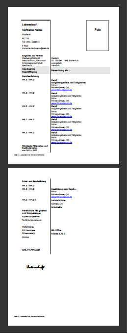Lebenslauf Vorlage Copy And Paste lebenslauf mustervorlage als pdf picture to pin on